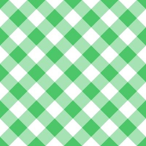 Summer Cottage - Green Bias Gingham