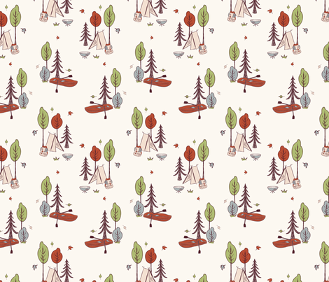 Camping fabric by gabriellecox on Spoonflower - custom fabric