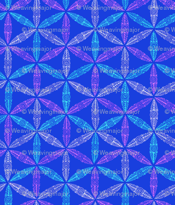 pysanky triangles in blue