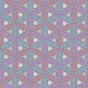 Pysanky floral in grey