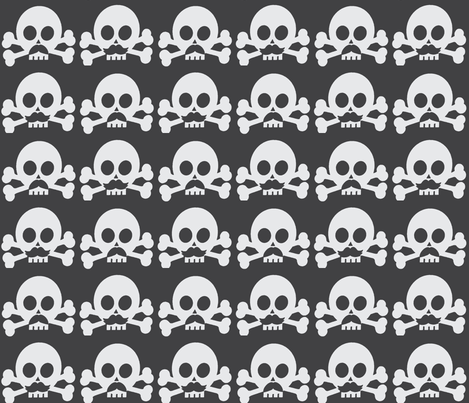 Macho skulls fabric by mezzime on Spoonflower - custom fabric