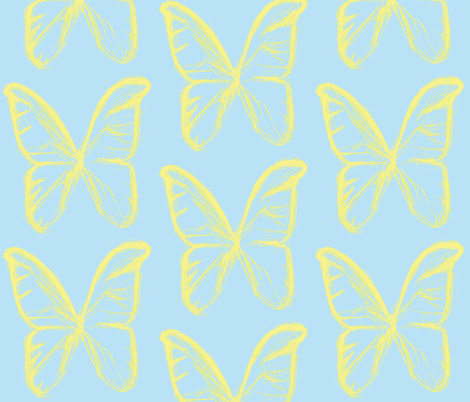 Butterfly dream baby fabric by mezzime on Spoonflower - custom fabric