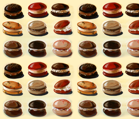 Whoopie_Pies_Christina_Hess fabric by clhess on Spoonflower - custom fabric