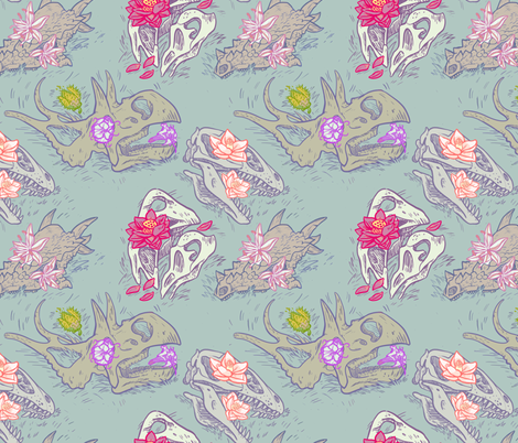 skullz fabric by psitty on Spoonflower - custom fabric