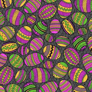 A Basketful of Painted Eggs