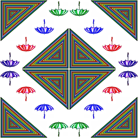 Rain Rain Go Away 2 fabric by ravynscache on Spoonflower - custom fabric