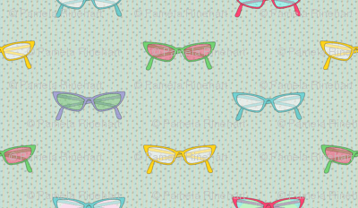 geek dress code multicolor glasses on dots and stripes