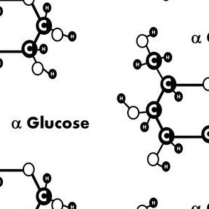 alpha glucose black and white