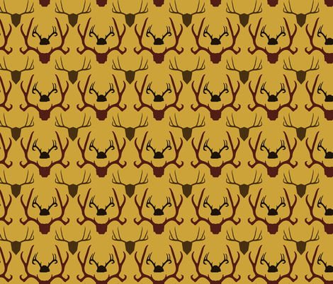 Antlers fabric by cuddlebat on Spoonflower - custom fabric