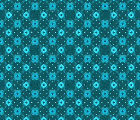 Blue Diamonds fabric by cuddlebat on Spoonflower - custom fabric