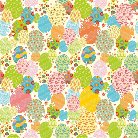 Floral pasqua eggs fabric by dariara on Spoonflower - custom fabric