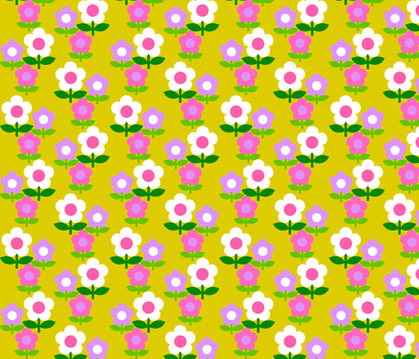 daisy_group_yellow fabric by aliceapple on Spoonflower - custom fabric