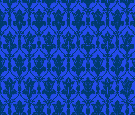 If 221b Baker Street were on the TARDIS coordinate fabric by fentonslee on Spoonflower - custom fabric