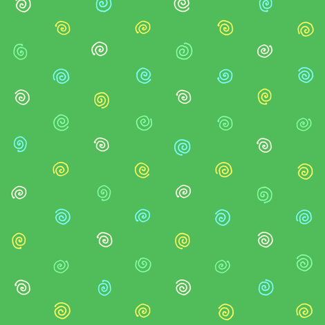 pysanky dots in green fabric by weavingmajor on Spoonflower - custom fabric