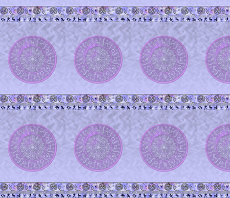zodiac pale blue - small fabric by krs_expressions on Spoonflower - custom fabric