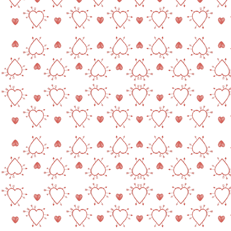 Shot Through the Heart fabric by lapittrice13 on Spoonflower - custom fabric