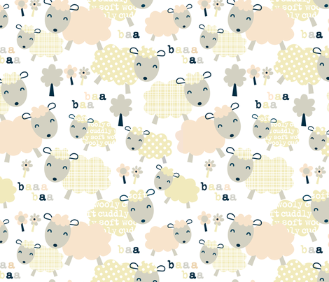 Baa-ha-ha fabric by amel24 on Spoonflower - custom fabric