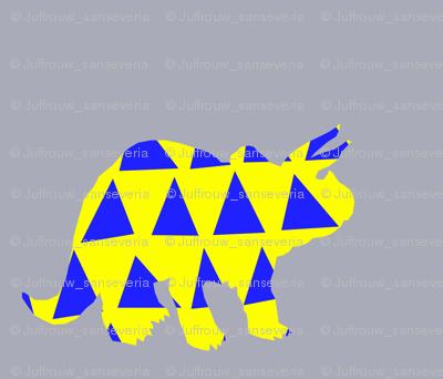 triceratops on grey fat quarter