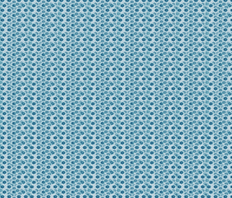 blue flower  fabric by krs_expressions on Spoonflower - custom fabric