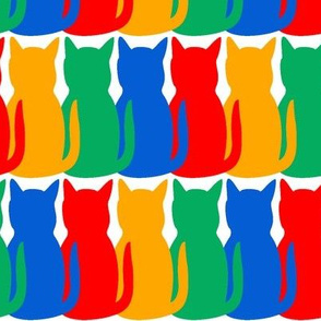 Crayon Cats on White