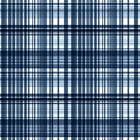 Indigo plaid fabric by paragonstudios on Spoonflower - custom fabric