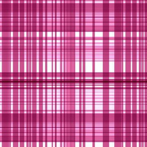 Raspberry sorbet plaid