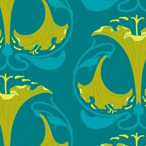 Art Nouveau30-blue/green