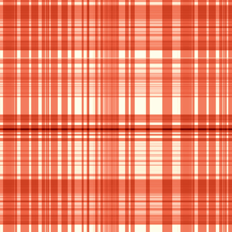 Tangerine plaid fabric by paragonstudios on Spoonflower - custom fabric