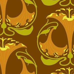 Art Nouveau30-orange/brown