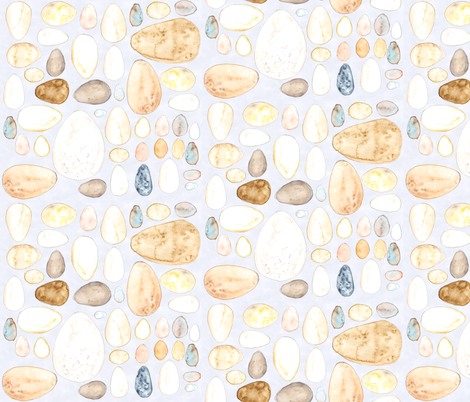 Painted Eggs fabric by wiccked on Spoonflower - custom fabric
