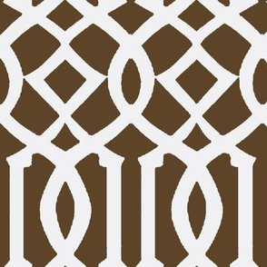 Imperial Trellis Brown/White-Large