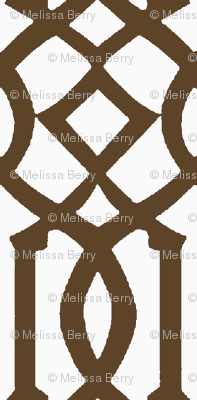 Imperial Trellis-Brown/White-Reverse-Large