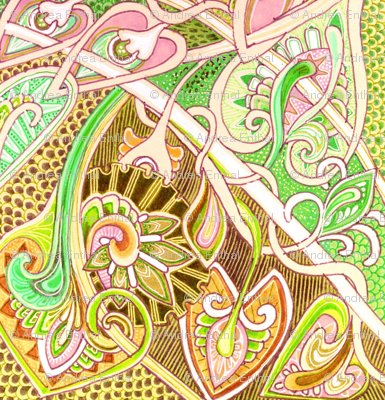 Old Fashioned Twisted Paisley Victorian (in beige)