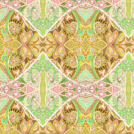 Old Fashioned Twisted Paisley Victorian (in beige) fabric by edsel2084 on Spoonflower - custom fabric