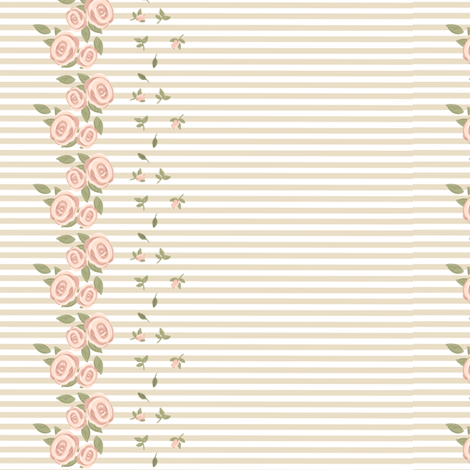 Natural Rose fabric by shadow-people on Spoonflower - custom fabric