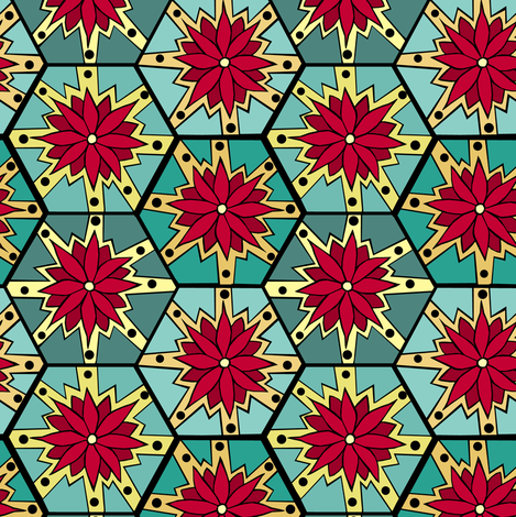 Flower Pop fabric by pond_ripple on Spoonflower - custom fabric