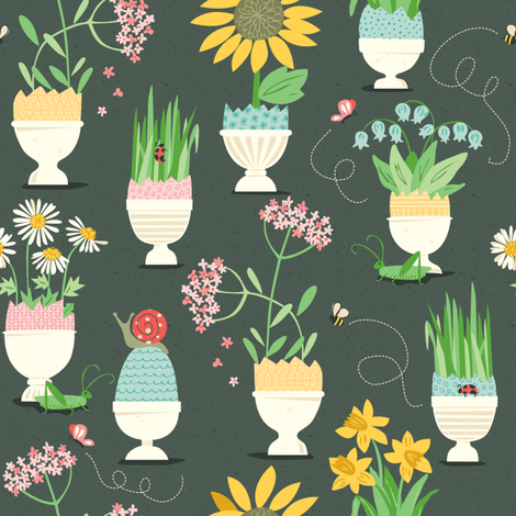 Easter_Bloom fabric by stacyiesthsu on Spoonflower - custom fabric