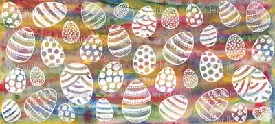 Painted Eggs - white