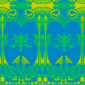 Art Nouveau42-blue/green