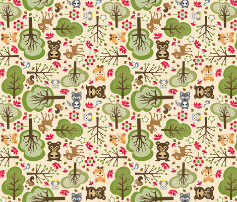 Babes of the Forest fabric by mag-o on Spoonflower - custom fabric