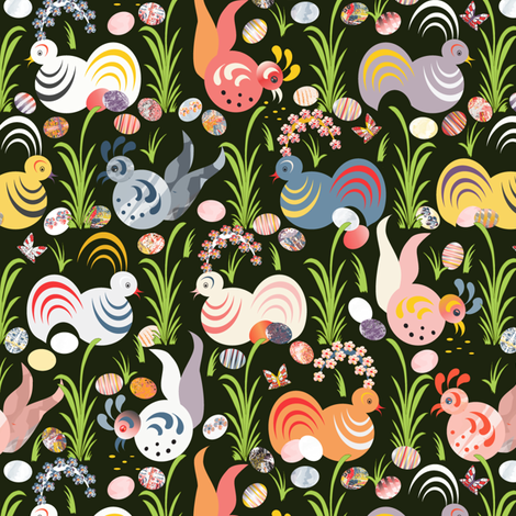 The Chicken or The Egg fabric by mag-o on Spoonflower - custom fabric