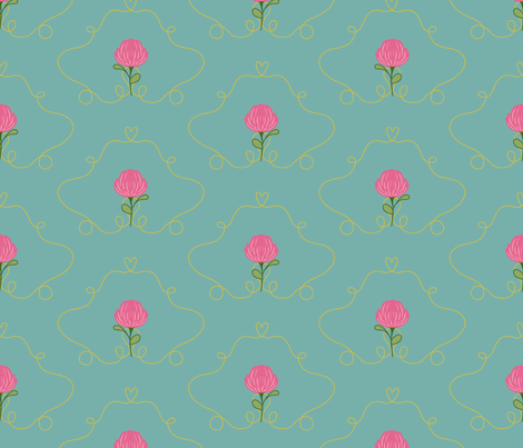 CLOVER_HEART_SPRING fabric by pfeiffer on Spoonflower - custom fabric