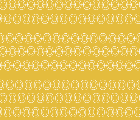 Chain_yellow fabric by pfeiffer on Spoonflower - custom fabric