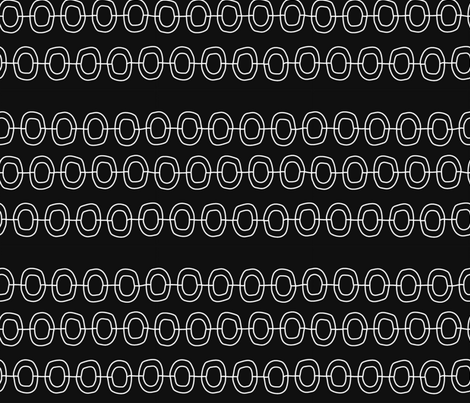 Chain_Black fabric by pfeiffer on Spoonflower - custom fabric