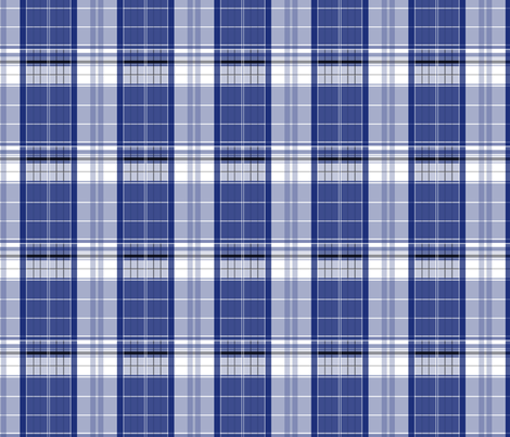 Police Box Plaid 1 fabric by morrigoon on Spoonflower - custom fabric