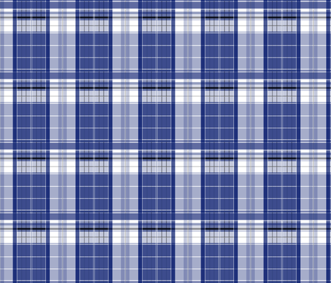 Police Box Plaid 2 fabric by morrigoon on Spoonflower - custom fabric