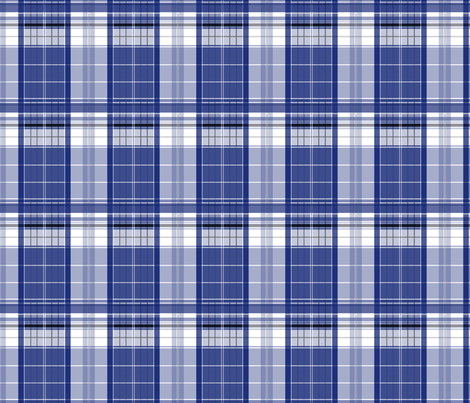 Blue Box Plaid 3 fabric by morrigoon on Spoonflower - custom fabric
