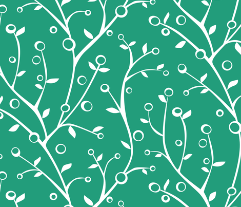 Vine and Pods fabric by jillbyers on Spoonflower - custom fabric