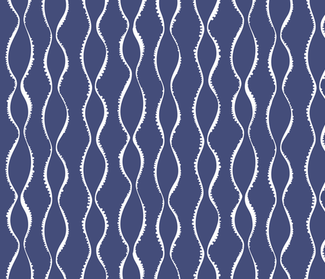 Bubble Waves navy fabric by jillbyers on Spoonflower - custom fabric