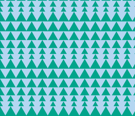 triangles, blue green fabric by gingerbunn on Spoonflower - custom fabric